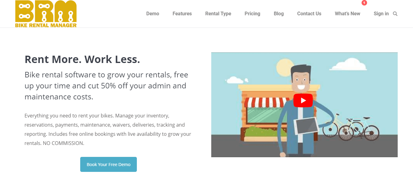Bike Rental Manager Software Screenshot