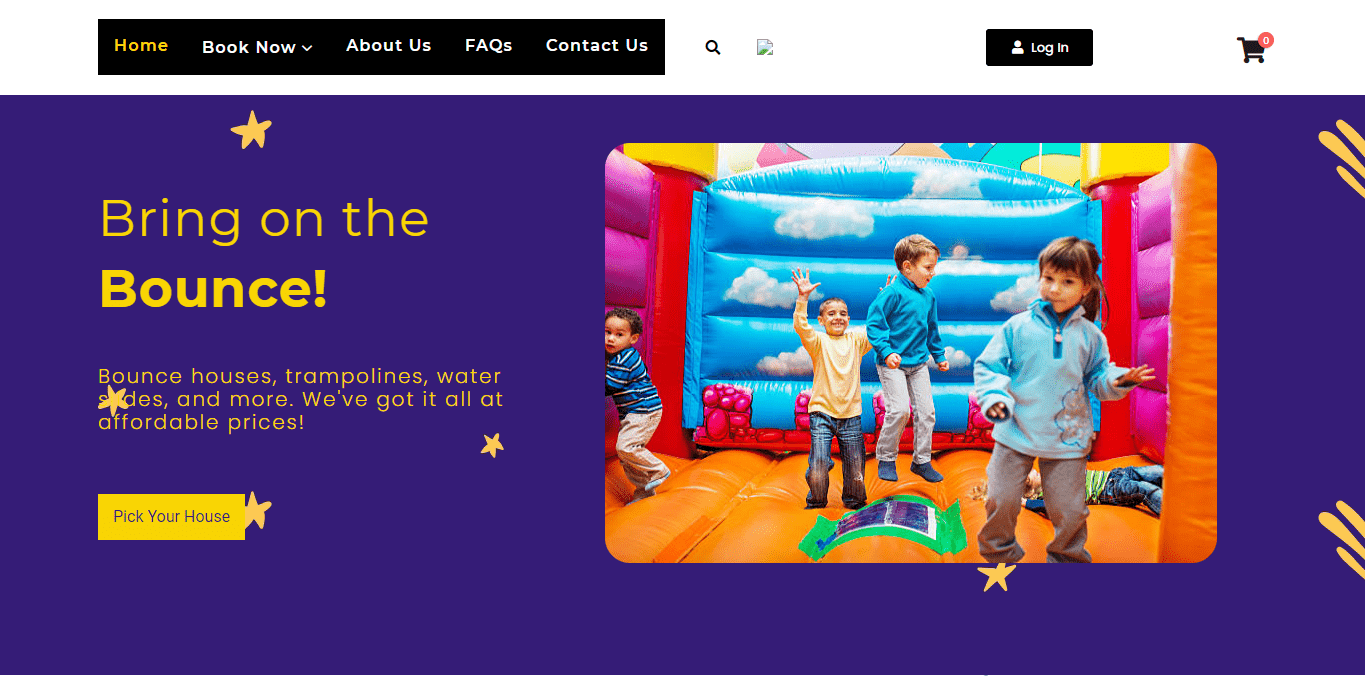 Bounce House Rental Template