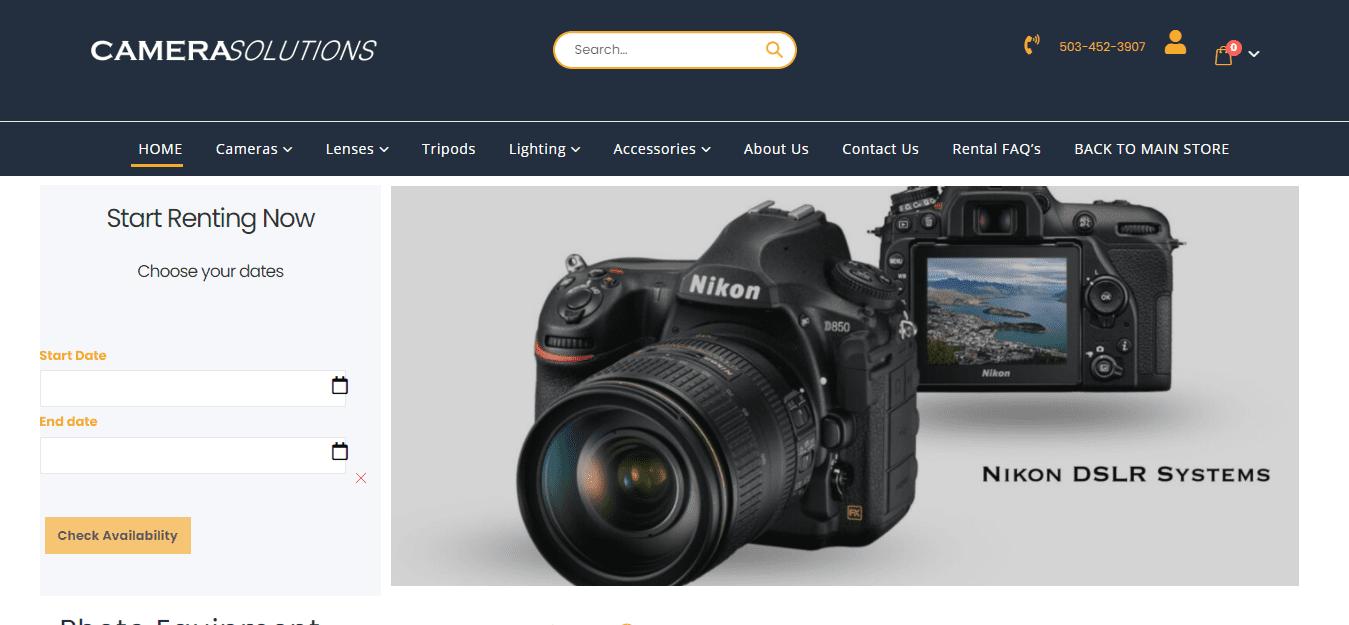 CameraPDx - Using Audio Video/Production Equipment Rental Software