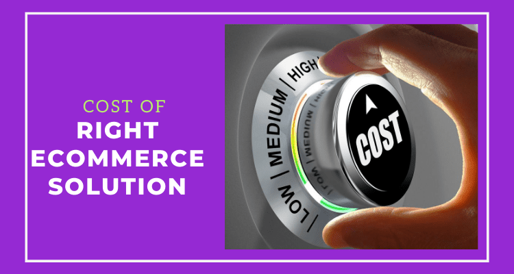 Cost of Choosing Right Ecommerce Solution