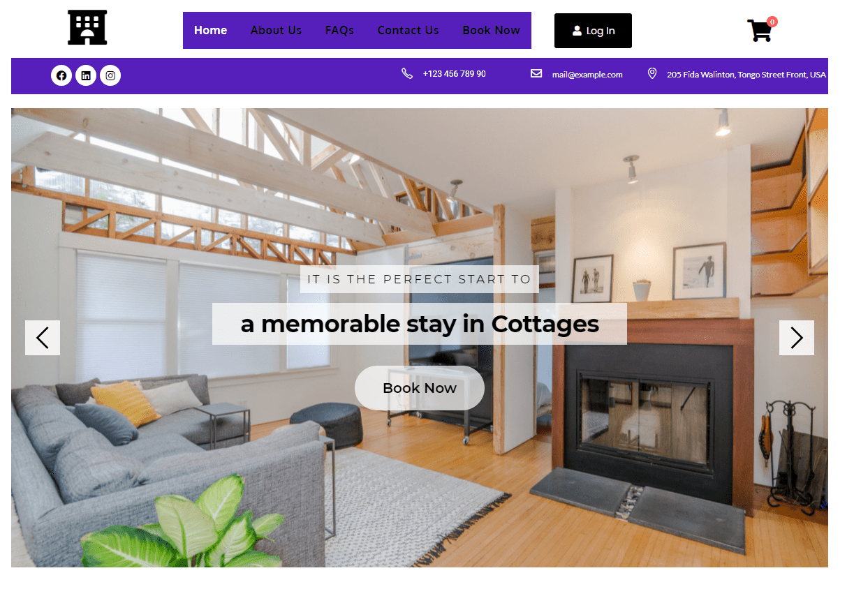 Cottage Booking Template