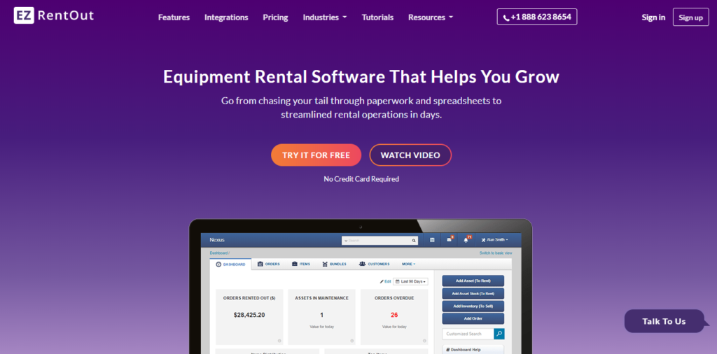 Ezrentout- Rental software