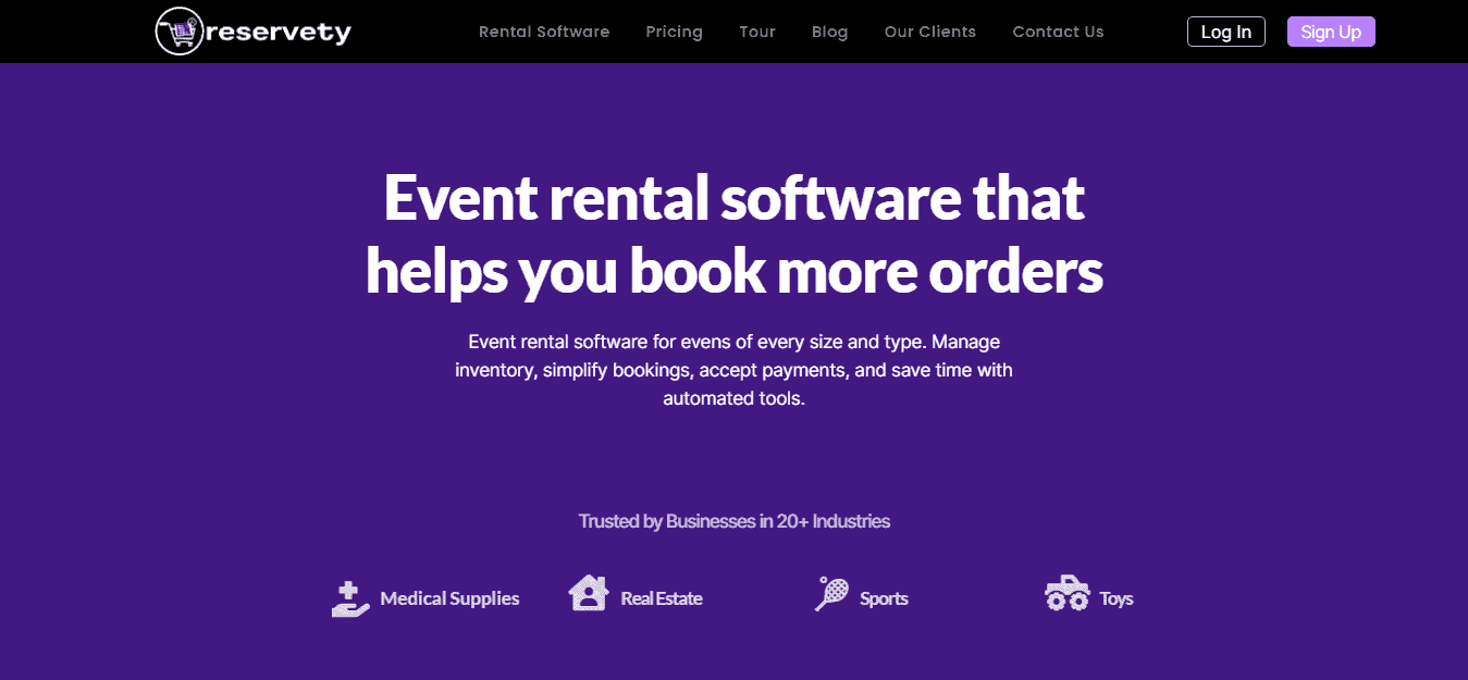Event Rental Software For Small Businesses