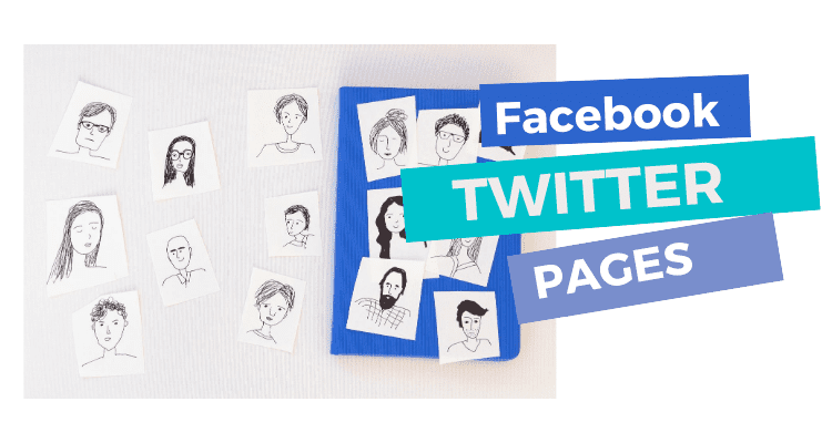 Facebook and twitter Pages