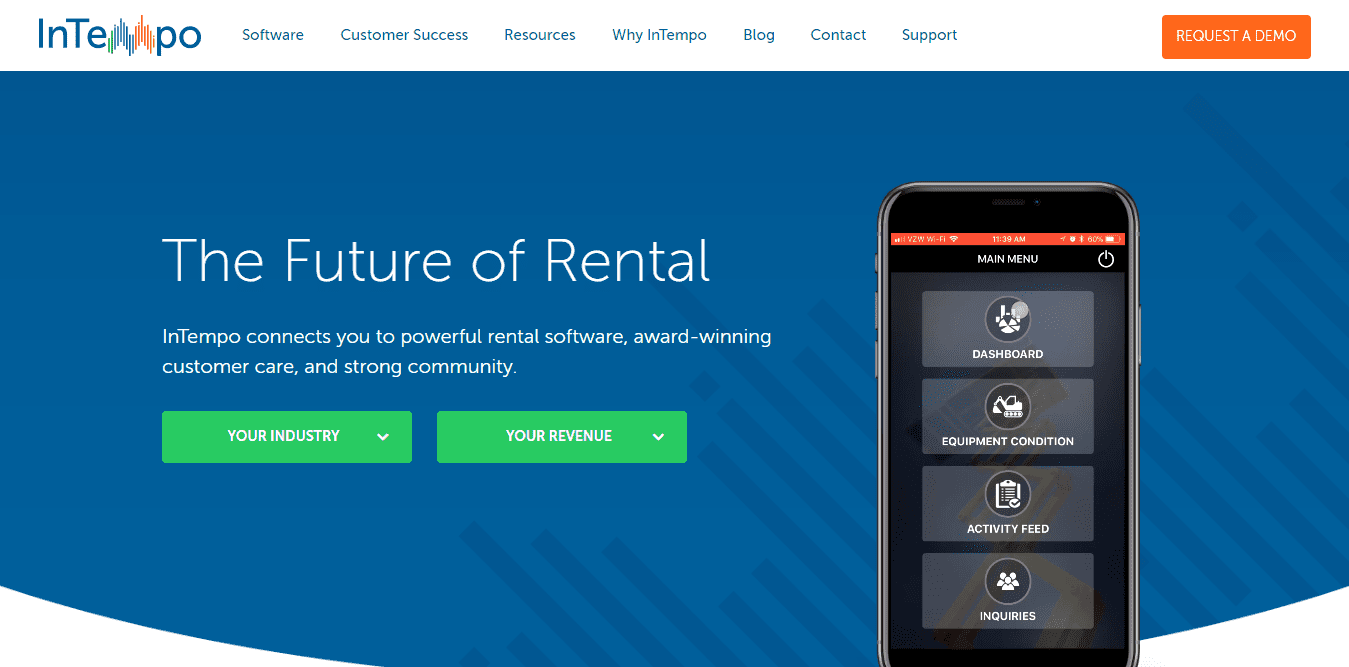 Intempo Rental Software for parties and events