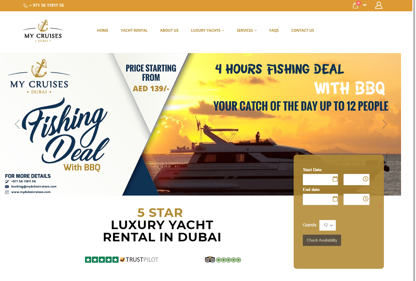 Boat and Yacht Booking Template