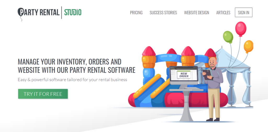 Party Rental studio - the all in one party rental software