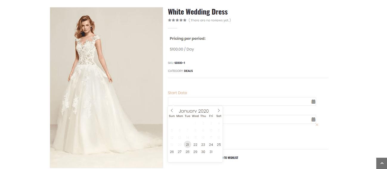 Dress Rental Software Screenshot